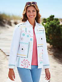 Multi-Colored Embroidered Jacket