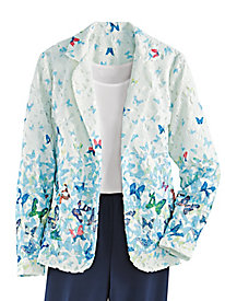 Butterfly Print Lace Jacket