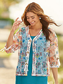 Light & Easy Print Cardigan