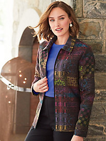 Zip-Front Tapestry Jacket