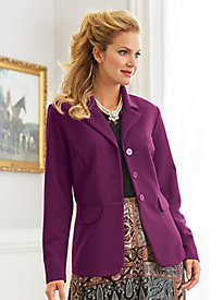 Textured Button Front Jacket