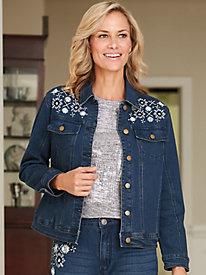 Metallic Embroidered Jacket