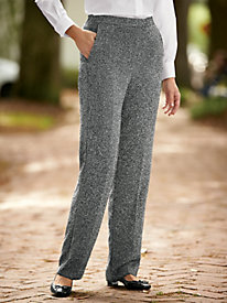 Boucle Extended Tab Pants
