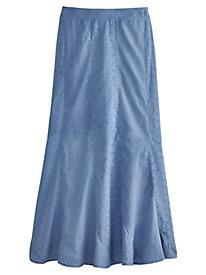 Eyelet Inset Skirt