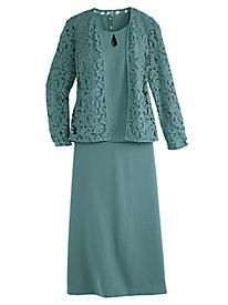 Lace Jacket Skirt Set