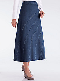 Stylized Paneled Skirt