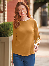 Long-Sleeve V-Hemline Shirt