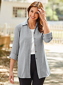 Roll-Tab Button-Front Tunic