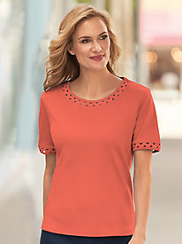 Ric Rac Elbow Sleeve Tee