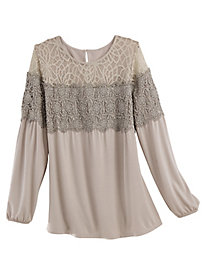 Mixed Lace Top