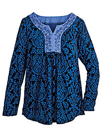 Embroidered & Flocked Tunic