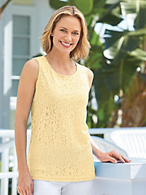Lacy Sleeveless Shell