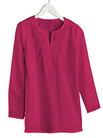 Embroidered Tonal Tunic