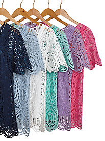 Short-Sleeve Crochet Top