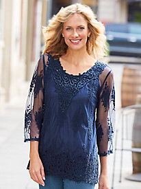 Lace Medallion Top