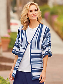 Breezy Striped Cardigan