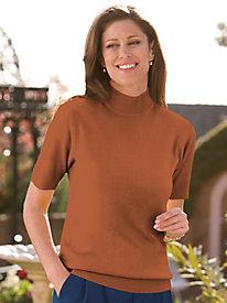 Short Sleeve Mock Neck Sweater