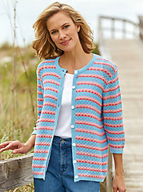 Striped Crochet Cardigan