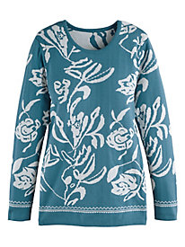 Scrollwork Pullover Sweater