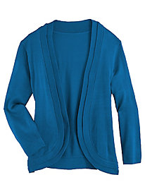 Double Layer Three-Quarter Sleeve Shrug