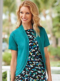 Double Layer Short Sleeve Shrug