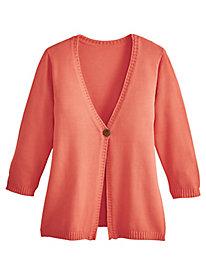 Three-Quarter Sleeve Cardigan