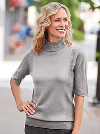 Lightweight Mockneck Sweater
