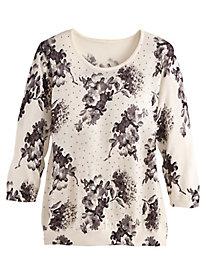 Print & Embellished Sweater