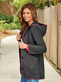 Fleece Jacket With Contrast Trim