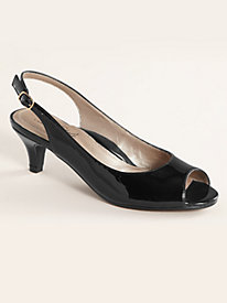 Analee Style Peeptoe Sling Sandals By Soft Style®