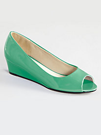 Tory Style Peep-Toe Wedges By Valley Lane�
