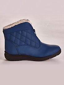 Zip-Front Quilted Weather Boots by Valley Lane®