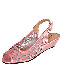 Bette Style Cutwork Sling Sandals By Classique®