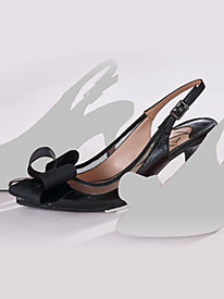 Garbi Style. Leather Sling Pumps By J. Renne