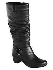 Jayda Scrunch Boots By Easy Street® Wide Shaft