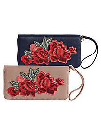 Floral Clutch Wallet By Urban Expressions®