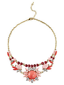 Floral Cluster Jewel Necklace