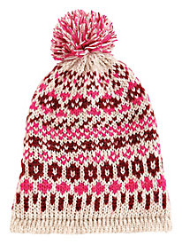 Fair Isle Hat With Pom