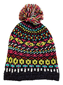 Fair Isle Hat With Pom by Bedford Fair