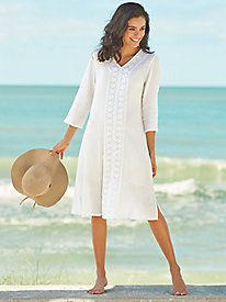 Crochet Trim Coverup by Bedford Fair