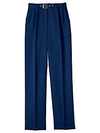 Belted Textured Pants