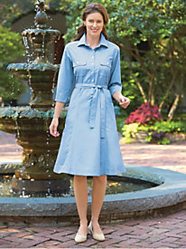 Wrinkle-Resistant Shirtdress