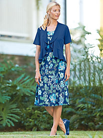 Updated Floral Dress With Shrug