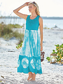 Knit & Gauze Print Sundress