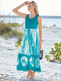 Knit & Gauze Print Sundress
