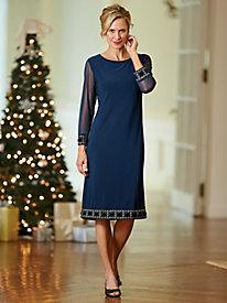 Jewel-Trimmed Dress