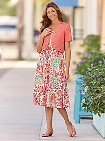 Sleeveless Dress & Coordinating Shrug