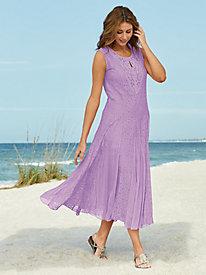 Sleeveless Lace Appliqué Dress
