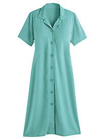 Rayon Challis Button-Front Dress