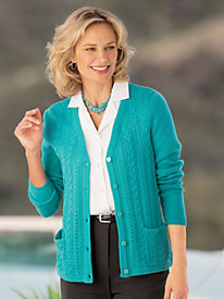 Cardigan With Cable Details